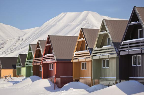 obrazek domów zaśnieżónych